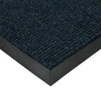 Modrá textilní zátěžová čistící rohož Catrine - 80 x 100 x 1,35 cm