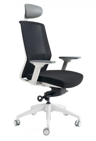 Kancelářské židle BESTUHL Kancelářské křeslo J17 bílý plast