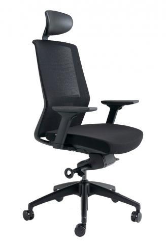 Kancelářské židle BESTUHL Kancelářské křeslo J17 černý plast