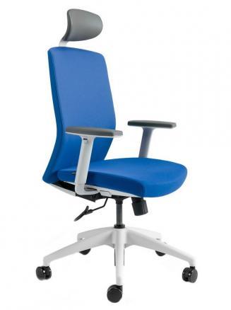 Kancelářské židle BESTUHL Kancelářské křeslo J2 ECONOMIC bílý plast