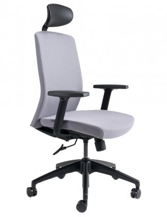 Kancelářské židle BESTUHL Kancelářské křeslo J2 ECONOMIC černý plast