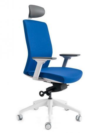 Kancelářské židle BESTUHL Kancelářské křeslo J2 SERIES bílý plast