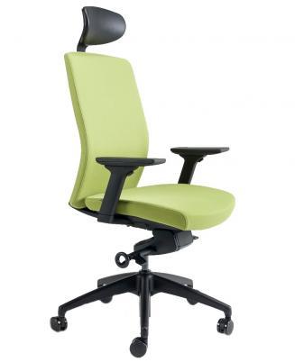 Kancelářské židle BESTUHL Kancelářské křeslo J2 SERIES černý plast