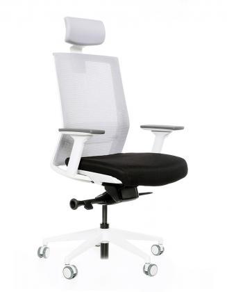Kancelářské židle BESTUHL - Kancelářské křeslo S27 bílý plast