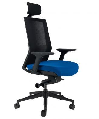 Kancelářské židle BESTUHL Kancelářské křeslo S27 černý plast
