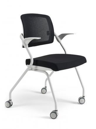 Konferenční židle - přísedící BESTUHL Konferenční židle U20 bílý plast