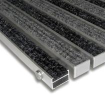 Textilní hliníková čistící vnitřní vstupní rohož Alu Standard - 60 x 90 x 2,2 cm