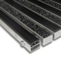 Hliníková textilní gumová čistící vnitřní vstupní rohož Alu Standard - 60 x 90 x 2,2 cm