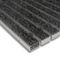 Textilní hliníková čistící vnitřní vstupní rohož Alu Standard - 60 x 90 x 1,7 cm