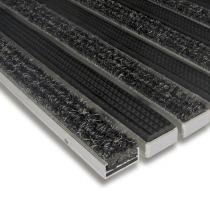 Hliníková textilní gumová čistící vnitřní vstupní rohož Alu Standard - 60 x 90 x 1,7 cm