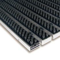 Šedá hliníková čistící kartáčová venkovní vstupní rohož Alu Super - 60 x 90 x 1,7 cm
