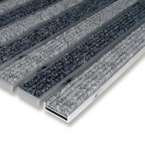 Textilní hliníková čistící vstupní vnitřní rohož Alu Low - 60 x 90 x 1 cm