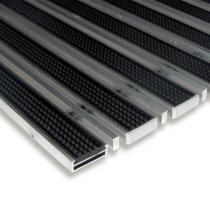 Gumová hliníková čistící venkovní vstupní kartáčová rohož Alu Low Extra - 60 x 90 x 1 cm