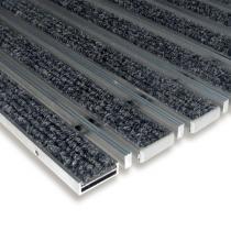 Textilní hliníková čistící vstupní vnitřní kartáčová rohož Alu Low Extra - 60 x 90 x 1 cm