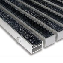 Hliníková textilní čistící vnitřní vstupní kartáčová rohož Alu Extra - 60 x 90 x 2,7 cm