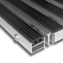 Hliníková gumová čistící vstupní venkovní kartáčová rohož Alu Extra - 60 x 90 x 2,7 cm