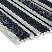 Textilní gumová hliníková čistící vstupní rohož Wella, FLOMAT - 60 x 90 x 1,4 cm