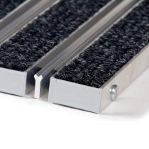 Textilní hliníková čistící vstupní vnitřní kartáčová rohož Alu Wide - 60 x 90 x 2,2 cm
