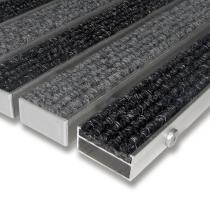 Textilní hliníková čistící vstupní vnitřní rohož Alu Wide - 60 x 90 x 2,2 cm