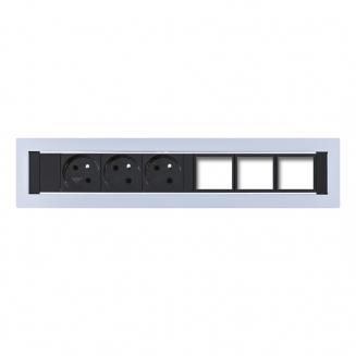 Zásuvkové panely pevné Zásuvkový panel KPP 6 konfigurovatelný