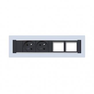 Zásuvkové panely pevné Zásuvkový panel KPP 4 konfigurovatelný