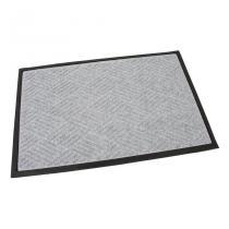 Šedá textilní gumová čistící vstupní rohož FLOMA Crossing Lines - délka 60 cm, šířka 90 cm a výška 1 cm