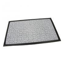 Šedá textilní gumová čistící vstupní rohož FLOMA Rectangle - Deco - délka 45 cm, šířka 75 cm a výška 0,8 cm