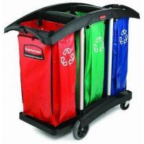 Pojízdný stojan Rubbermaid Triple na odpadkové pytle