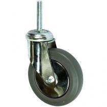 Gumové přístrojové kolo s čepem, průměr 125 mm, otočné, kluzné ložisko