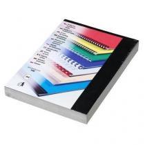 Desky pro kroužkovou vazbu, lesklý karton, černé