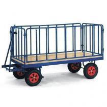 Ruční plošinový vůz se čtyřmi stěnami s mřížovou výplní, do 600 kg