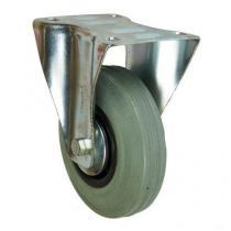 Gumové transportní kolo s přírubou, průměr 125 mm, kluzné ložisko