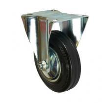 Gumové transportní kolo s přírubou, průměr 125 mm, valivé ložisko