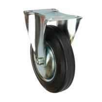 Gumové transportní kolo s přírubou, průměr 200 mm, valivé ložisko