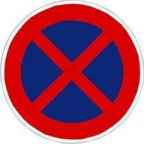 Dopravní značka Zákaz zastavení (B28)