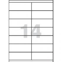 Samolepicí etikety, 105 x 42,3 mm, 100 ks