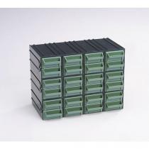 Modulový organizér, 24 zásuvek, černý/zelený