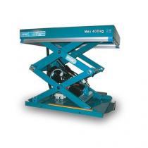 Hydraulický zvedací stůl, do 400 kg, deska 80 x 60 cm