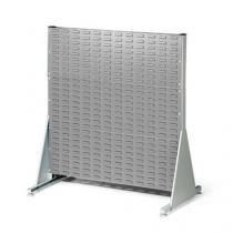 Oboustranný PERFO regál, výška 112 cm, šedý
