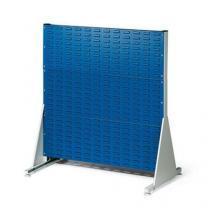 Oboustranný PERFO regál, výška 112 cm, modrý