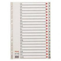 Plastové rozdružovače Maxi, písmenné, 5 ks, 20 oddílů