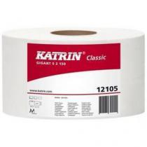 Toaletní papír Katrin Classics Gigant S2 2vrstvý, 18 cm, 1 040 útržků, 75% bílá, 12 rolí