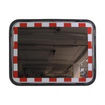 Dopravní obdélníkové zrcadlo, nerez, 450 x 600 mm