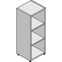 Střední úzká skříň System, 131 x 43 x 45 cm, otevřená