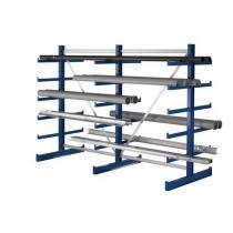 Oboustranný konzolový regál, základní 200 x 540 x 119 cm, 10 800 kg, 60 konzolí