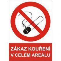 Zákazová bezpečnostní tabulka - Zákaz kouření v celém areálu, plast