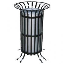 Kovový venkovní odpadkový koš Count, objem 70 l