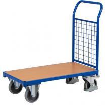 Plošinový vozík s madlem s mřížovou výplní, do 400 kg