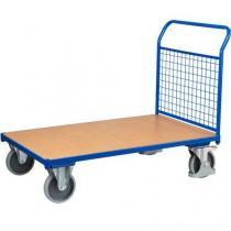 Plošinový vozík s madlem s mřížovou výplní, do 500 kg, 100,6 x 132,5 x 80 cm