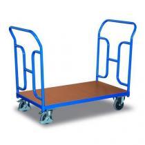 Plošinový vozík se dvěma vyztuženými madly, do 250 kg, 92,7 x 104 x 50 cm